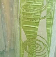 Тюль гардина органза  на метраж зеленая