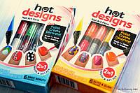 Набор для дизайна росписи ногтей Hot Designs Nail Art Pens 2 в 1, фото 1