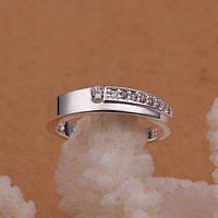 Кольцо комета фианиты покрытие 925 серебро проба