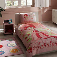 Детский комплект постельного белья TacStrawberry Shortcake простынь на резинке