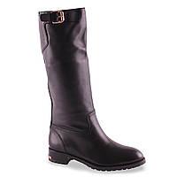 Кожаные сапоги Basconi(зимние, натуральная кожа, удобная подошва, красивый дизайн, теплые, с пряжкой, бренд)