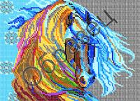 Схема для вышивки бисером - «Лошадь»