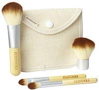 Кисти для макияжа ECOTOOLS  4 штуки с бамбуковыми ручками