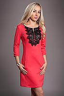Платье женское мод 217-1 размер 44,46, коралл