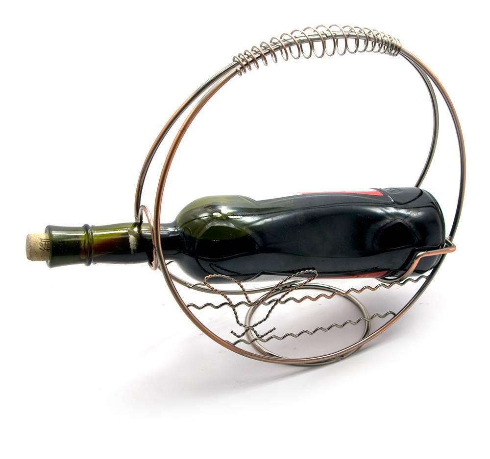Подставка для бутылки Корзина металл