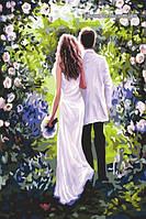Картина по цифрам Молодожены в саду худ. Риос Сьюзан (VP372) 40 х 50 см