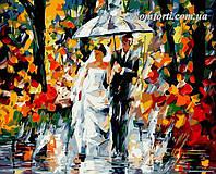 Раскраска по номерам Свадьба под дождем худ. Афремов, Леонид (VP080) 40 х 50 см