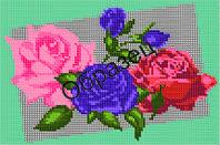 """Схема для вышивки бисером - """"Букет из роз"""""""
