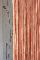 Шторы-нити кисея Однотонная №209 персиковый
