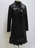 Пальто кашемировое с натуральным мехом