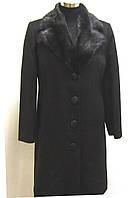 Пальто кашемировое с норкой р.48 и р. 50