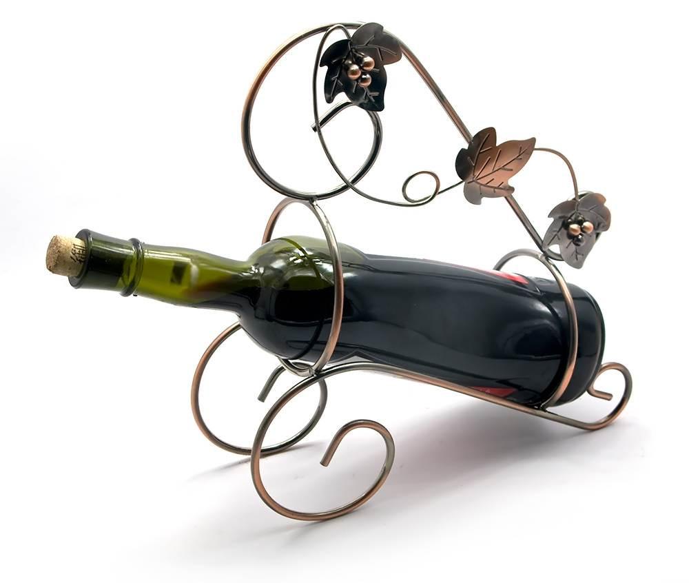 Подставка для бутылки Виноградная лоза металл