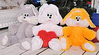 Мягкая игрушка плюшевый Зайчик Снежок 65 см.