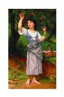 """Схема для вышивки бисером """"Девушка с вишнями"""""""