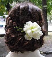 Фрезия свадебная (заколка-зажим)