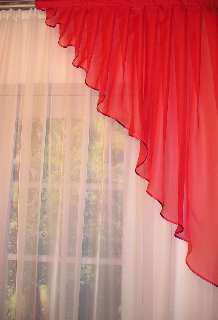 Дизайн штор из вуали