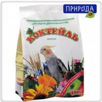 Природа Коктейль Корелла корм для средних попугаев, 500г