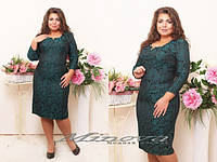 Платье осеннее жаккардовое, платье большого размера 50-56