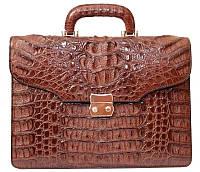 Портфель из кожи крокодила DCM 1527 G Brown