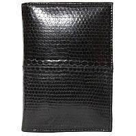 Обложка для паспорта и документов из кожи морской змеи SNPH 01 Black