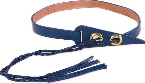 Женский очаровательный узкий кожаный ремень ETERNO (ЭТЭРНО) E7047-navy