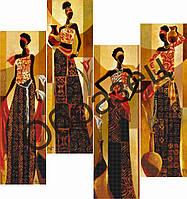 """Схема для вышивки бисером Квадриптих """"Четыре времени года"""""""