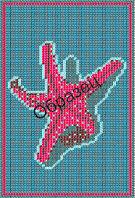 """Схема для вышивки бисером """"Морская звезда"""""""