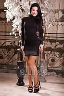 Платье мини со стразами 125