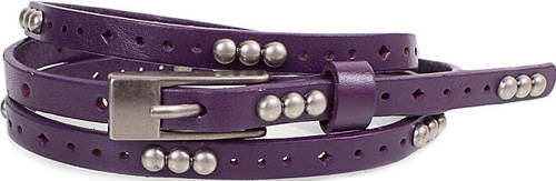 Женский красивый узкий кожаный ремень ETERNO (ЭТЕРНО) E7093-violet