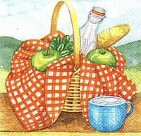 Редкая декупажная салфетка Корзина для пикника