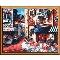 "Картина по номерам ""Кафе на углу улицы"" 40х50 см."