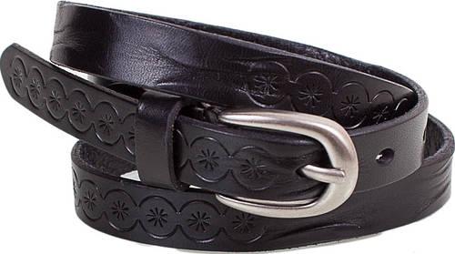 Превосходный женский узкий кожаный ремень ETERNO (ЭТЕРНО) E8026-black