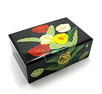 Шкатулка для украшений в цветах