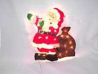 Электрическое панно «дед мороз», новогодняя гирлянда, праздничное оформление интерьера, питание от сети 220v