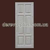 Двери из массива дерева 80см (глухие) f_0180