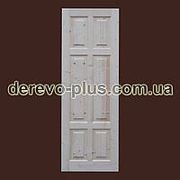 Двери из массива дерева 70см (глухие) f_0170
