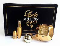 Подарочный набор Paco Rabanne Lady Million (Пако Рабанне Леди на Миллион) в бархатной коробке