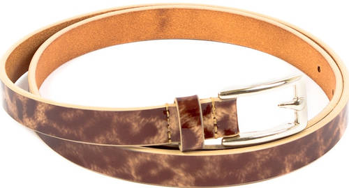 Женский интересный ремень узкий кожаный ETERNO (ЭТЕРНО) A0129-beige