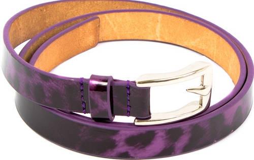 Женский красивый ремень узкий кожаный ETERNO (ЭТЕРНО) A0129-violet