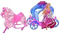 "Кукла ""Jinni"" с каретой и лошадью"