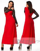 Платье Длинное с Гипюром ока099, фото 1