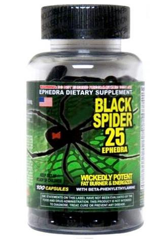 Жиросжигатель Black Spider 25 Cloma pharma 100 капсул