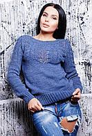"""Вязаный свитер """"Ветка"""", джинс"""