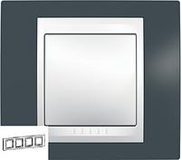 """Рамка четырехместная Unica Plus """"Серо-зеленый"""" Schneider Electric (Шнейдер Уника Плюс)"""