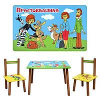 """Стол и 2 стула деревянный М 1434 """"Простоквашино"""""""