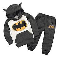 Теплый детский черный спортивный костюм Batman