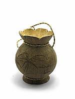 Маленькая ваза из кокоса