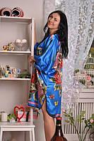 Очень приятное к телу шелковое кимоно, свободного кроя