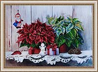 """Набор для вышивания бисером """"Рождественский натюрморт"""" по картине Валевской В.М. P-157"""