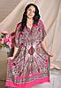 Длинное легкое платье кимоно